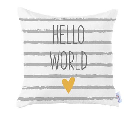 Fata de perna Hello World 35x35 cm