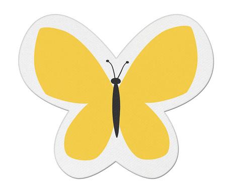 Perna decorativa Butterfly Dream Yellow 26x30 cm