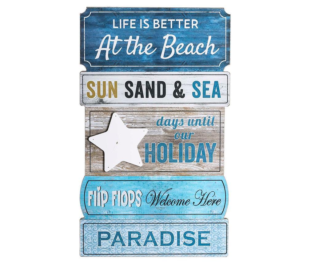 Better At The Beach Fali dekoráció