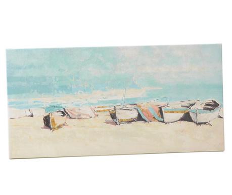 Tablou Bateaux de Peche 60x120 cm