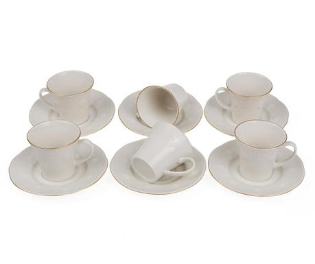 Set 6 cesti si 6 farfurioare Espresso Lace