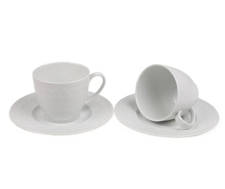 Set 2 cesti si 2 farfurioare Tea Leaves