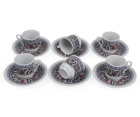 Set 6 cesti si 6 farfurioare Espresso Tradition