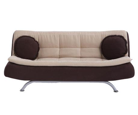 Canapea extensibila 3 locuri Riva Brown and Cream