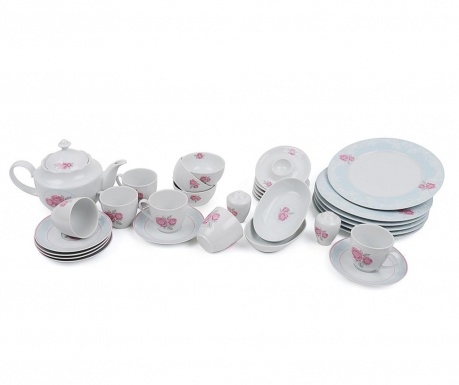 Set mic dejun 32 piese Pink Bouquet
