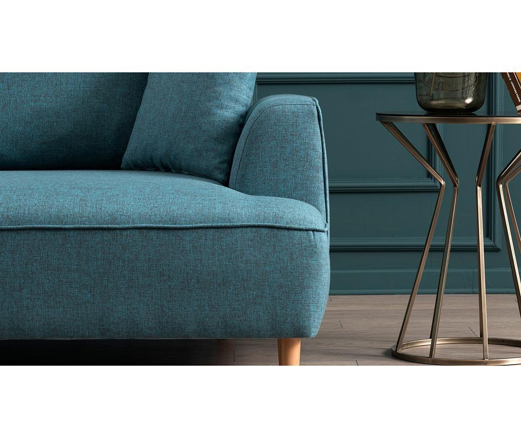 Десен ъглов диван Felix Extra Soft Turquoise