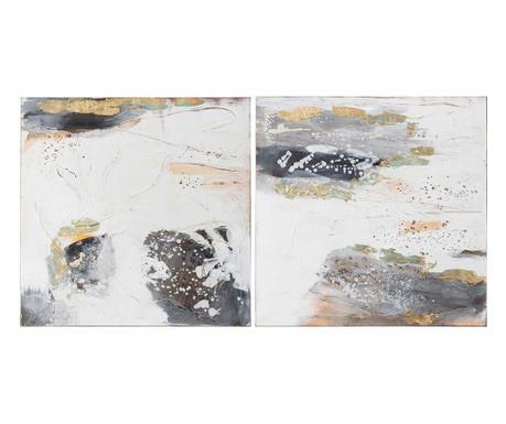 Set 2 tablouri Spread 60x60 cm