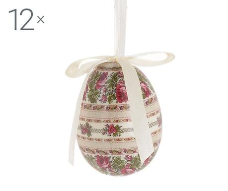 Set 12 decoratiuni suspendabile Egg Emilly