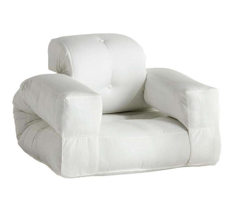 Fotelja na razvlačenje za vanjski prostor Hippo Out White 90x200 cm