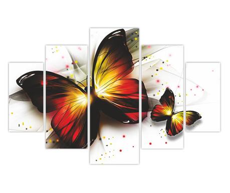Set 5 tablouri Papillon