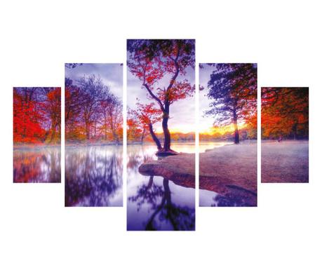Set 5 tablouri Violet