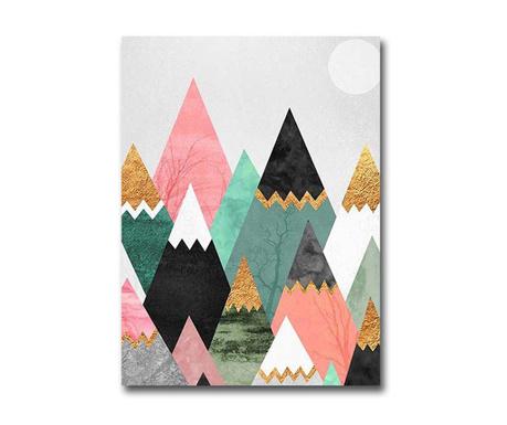 Tablou Colourful Mountains 28x38 cm