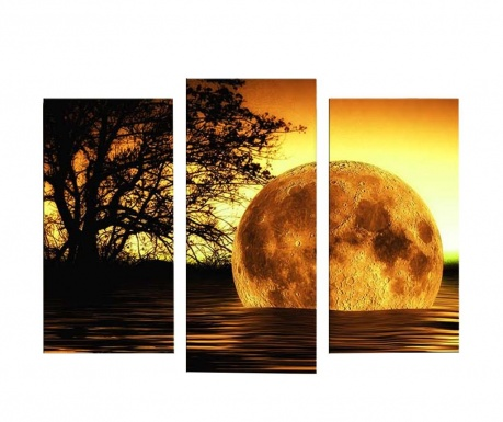 Set 3 tablouri cu LED Bath 45x66 cm