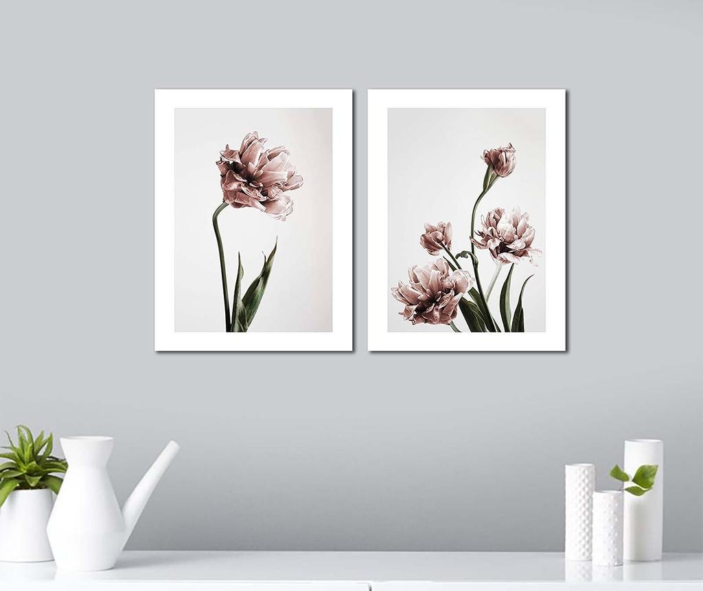 Flowers 2 db Kép 30x40 cm
