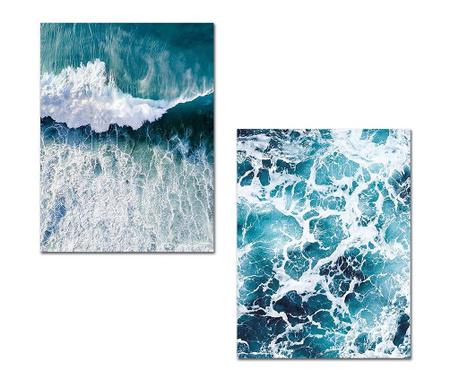 Set 2 tablouri Waves 30x40 cm