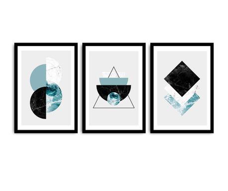 Set 3 tablouri Shapes 36x51 cm