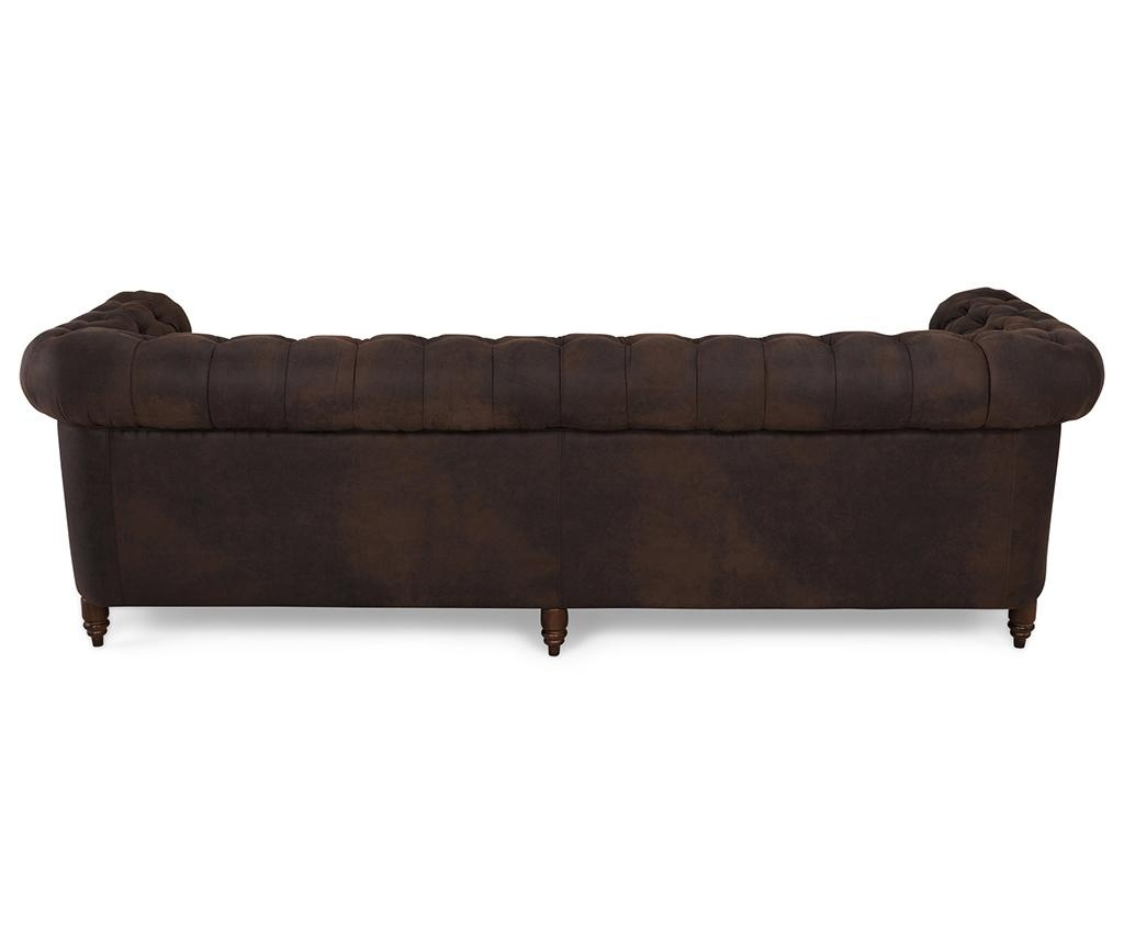 Canapea 4 locuri Chesterfield Vintage Brown