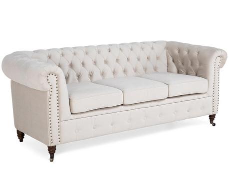 Chesterfield Beige Háromszemélyes kanapé