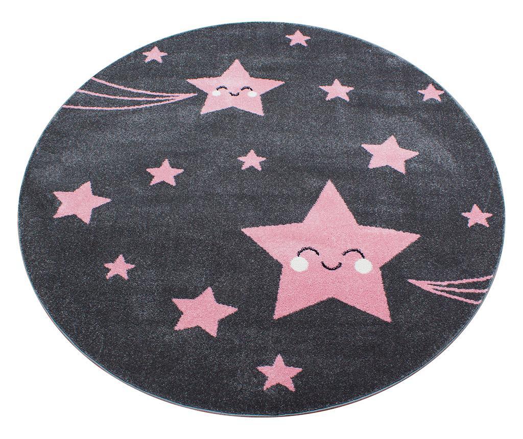 Covor Night Stars Round Pink 160 cm