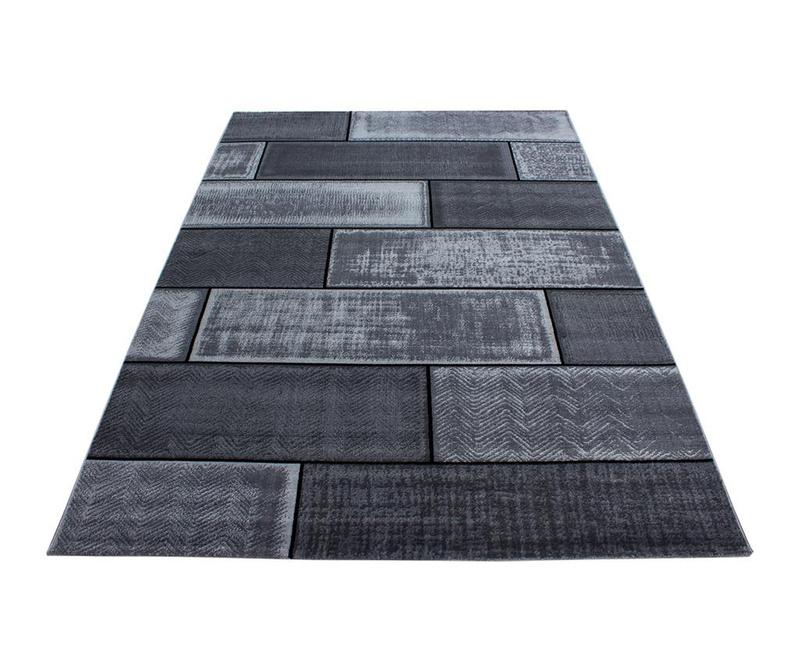 Koberec Plus Cement Black 80x150 cm