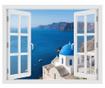 Window Santorini Oia 3D Matrica