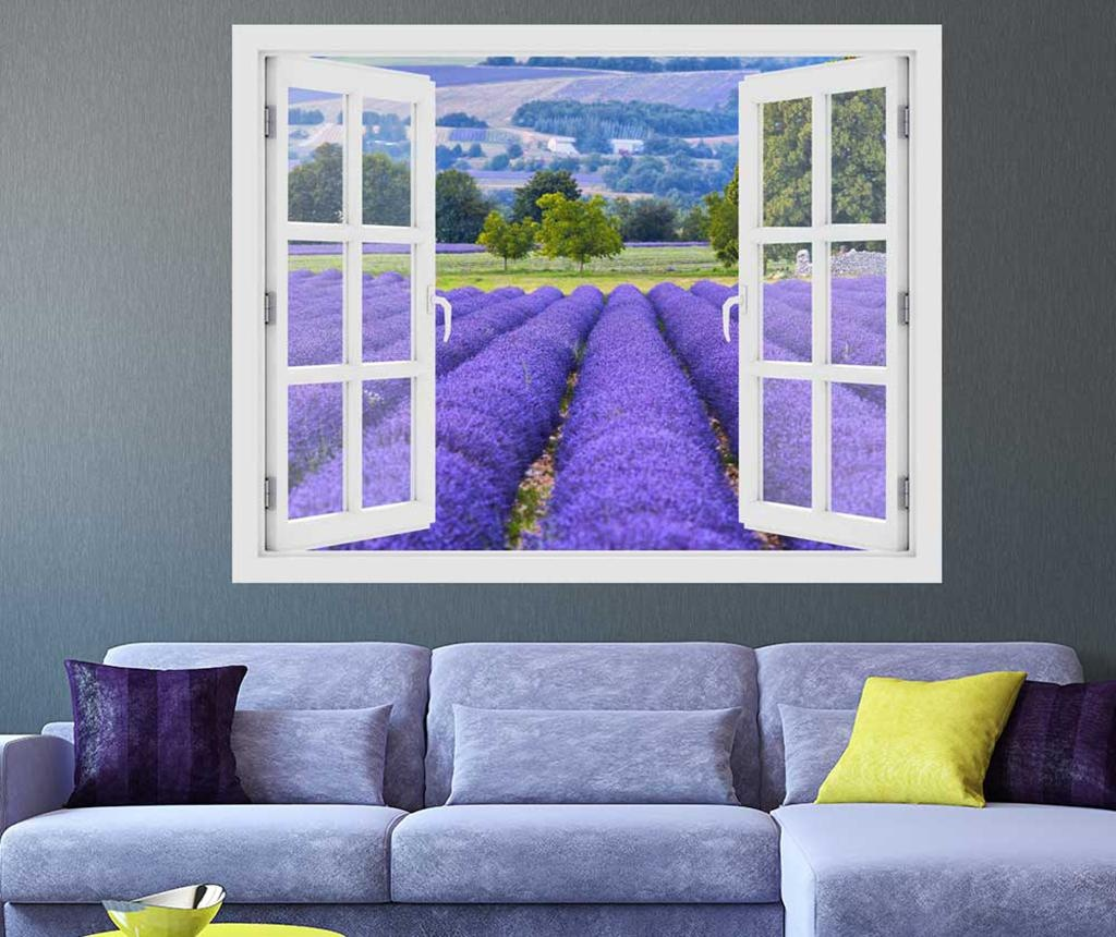 Window Lavender Field Provence 3D Matrica