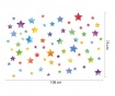 Colorful Watercolor Stars 67 db Matrica
