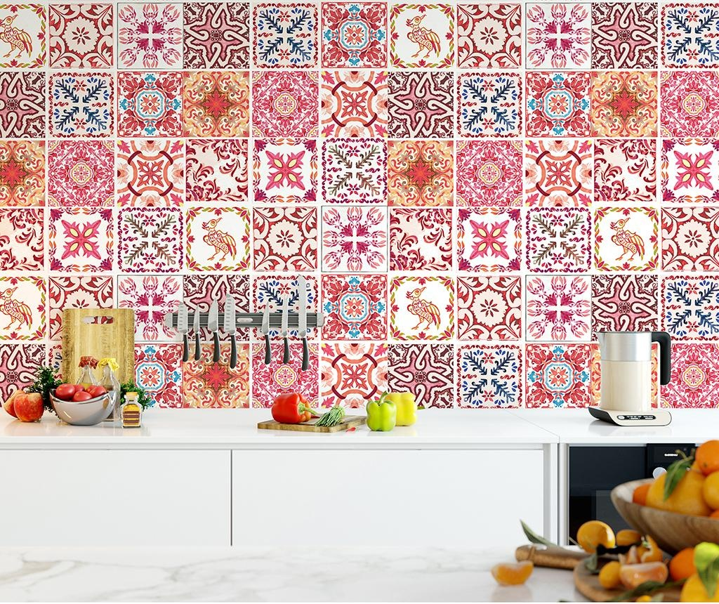 Tile Morrocan Rose 24 db Matrica