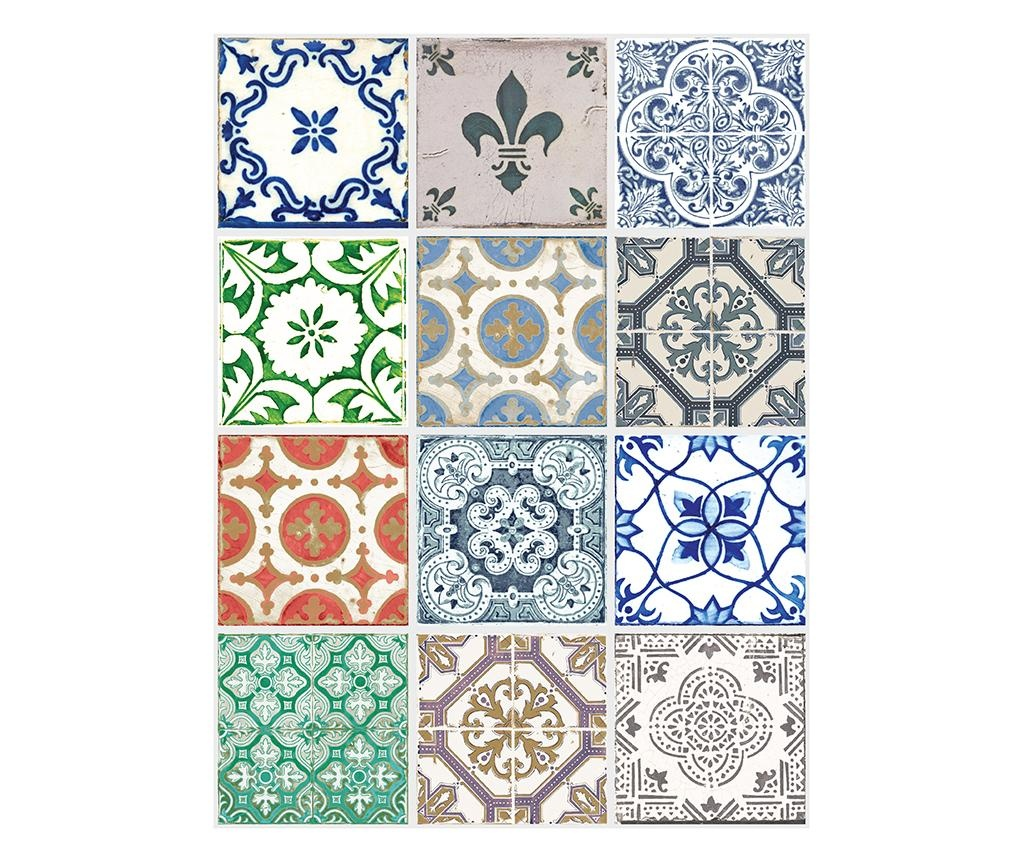 Set 24 stickere Vintage Porcelain Tiles