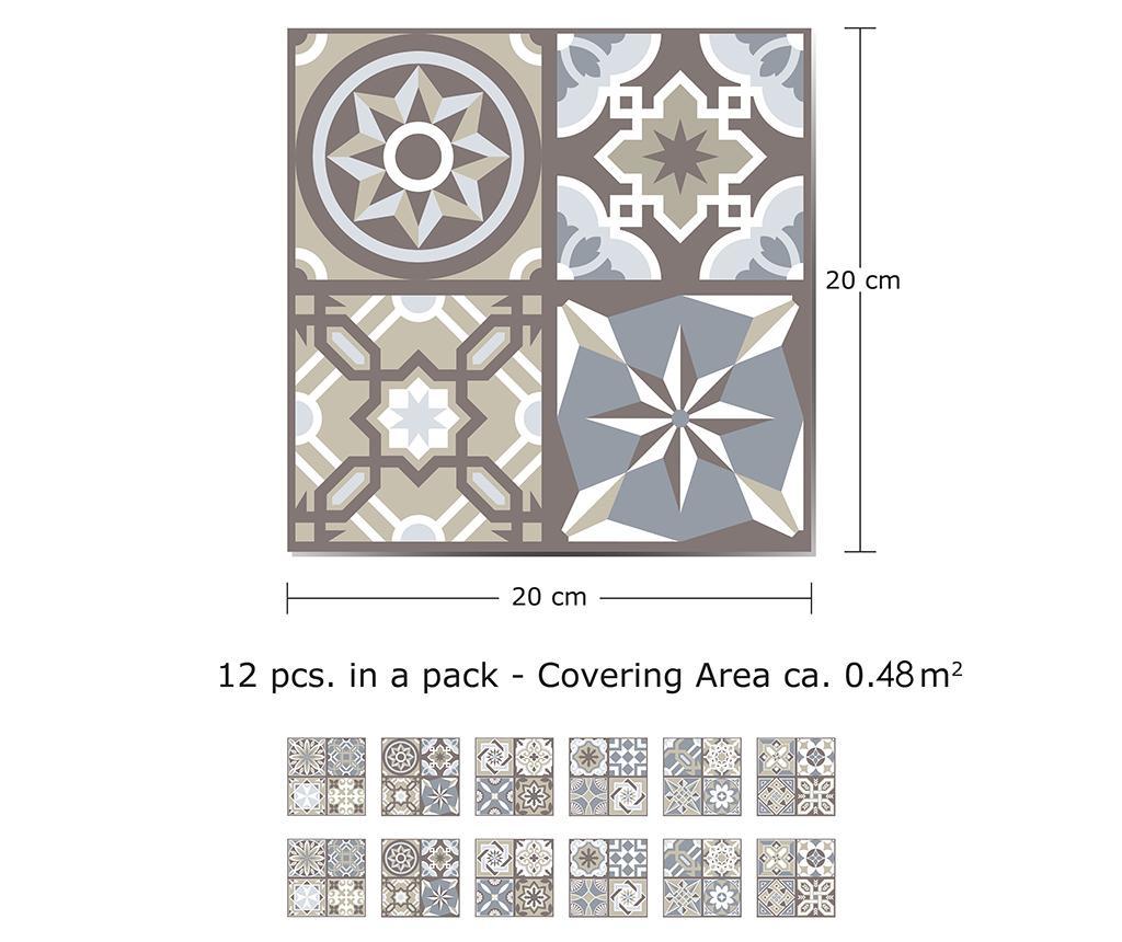 Tile Limestone 12 db Matrica