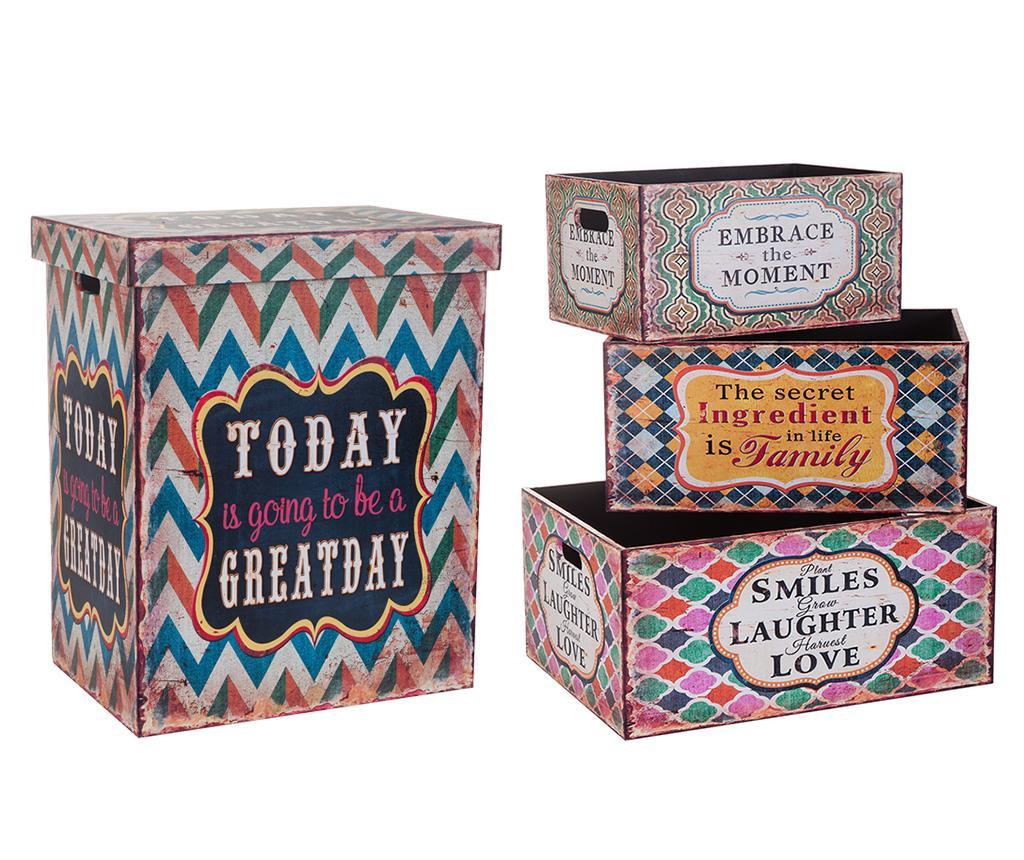 Set 4 cutii pentru depozitare Embrance