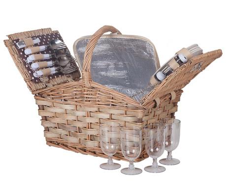 Cos echipat pentru picnic 4 persoane Mattea