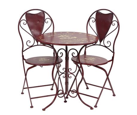 Set masa si 2 scaune pentru exterior Lucas