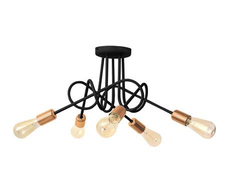 Stropna svetilka Oxford Five Black Brass