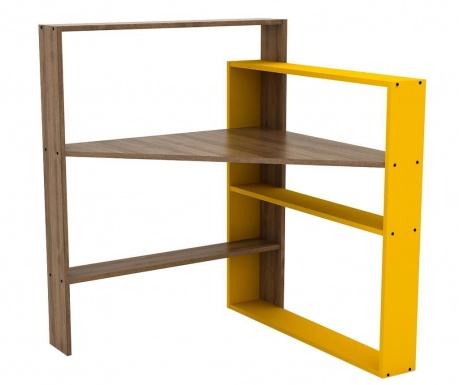 Pisagor Walnut Yellow Íróasztal