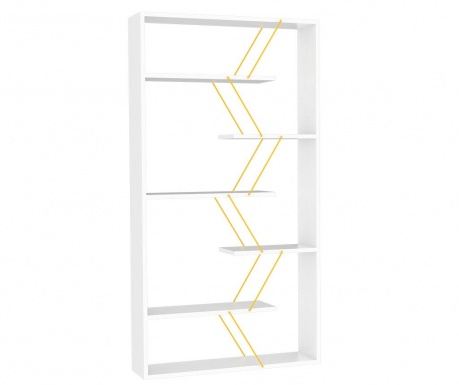 Biblioteczka Tars White Yellow