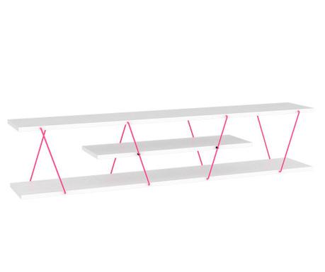Tars White Pink TV Komód