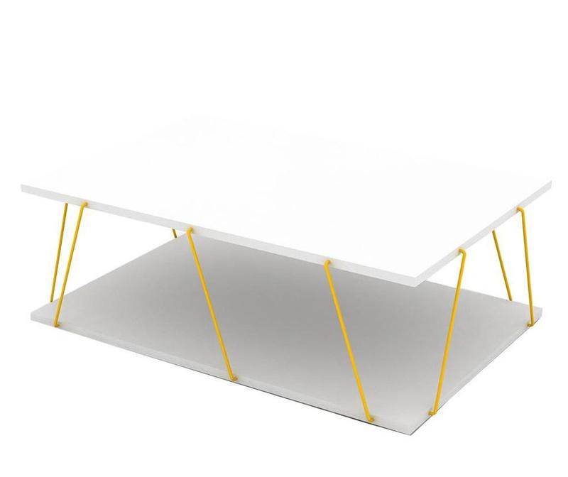 Stolić za kavu Tars White Yellow
