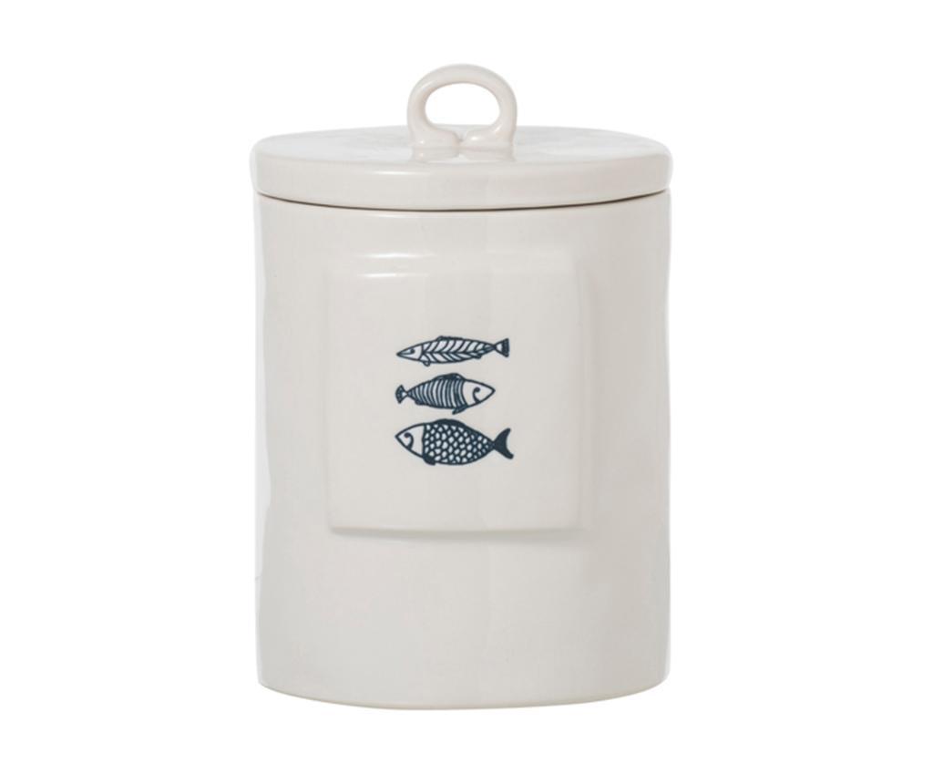 Fish Blue Tároló fedővel M