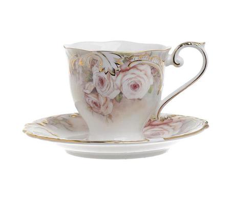 Set 6 skodelic za čaj in 6 krožničkov Garden
