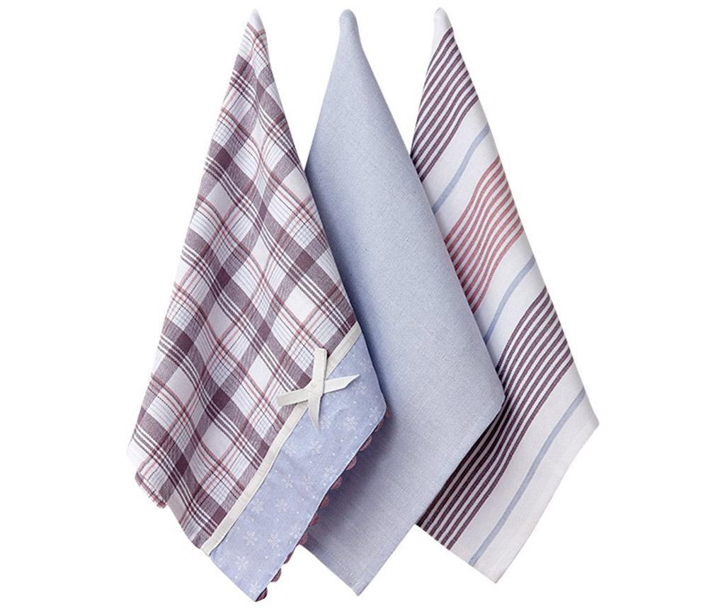 Set 3 kuhinjska ručnika Annika 16X36 cm