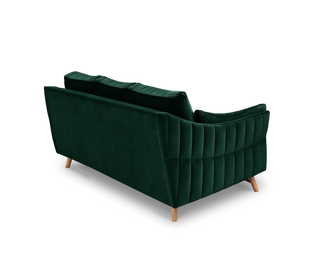 Canapea 3 locuri Elysee Bottle Green