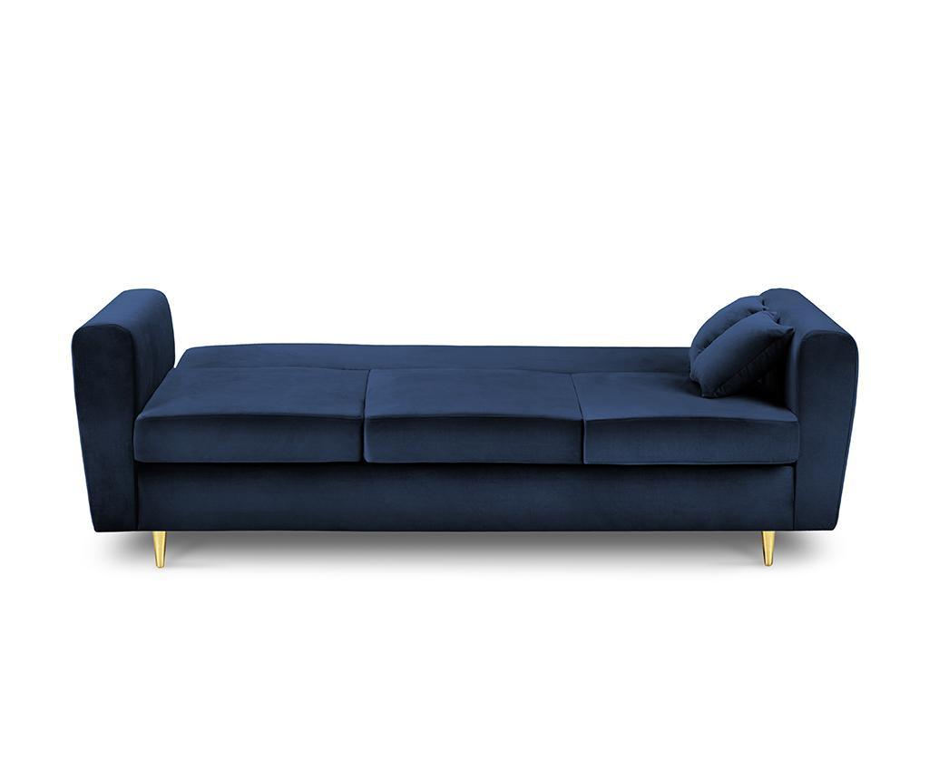 Remy Royal Blue Háromszemélyes kihúzható kanapé