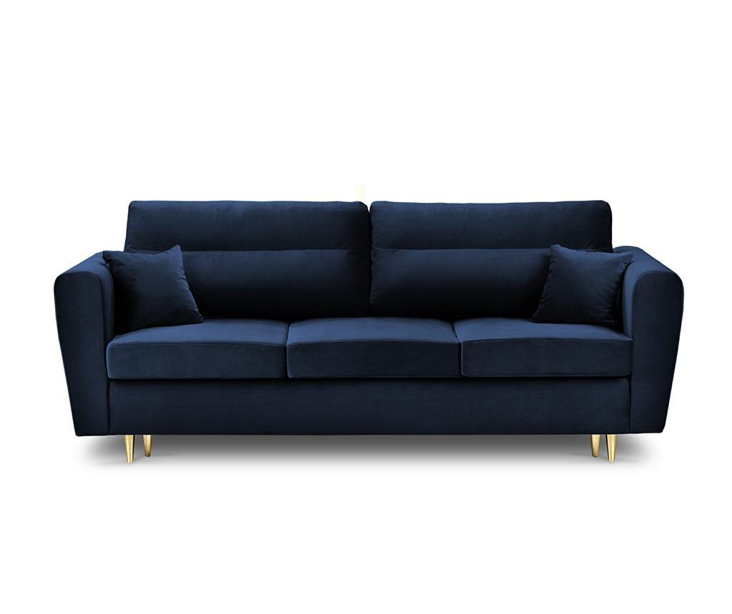 Canapea extensibila 3 locuri Remy Royal Blue