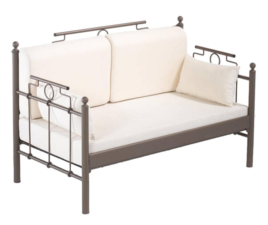 Canapea 2 locuri pentru exterior Hatkus Brown and Beige