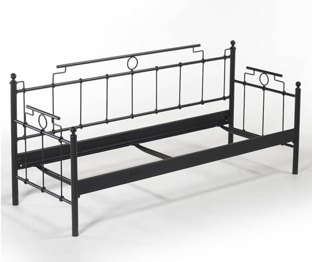 Canapea 3 locuri pentru exterior Hatkus Black and Grey