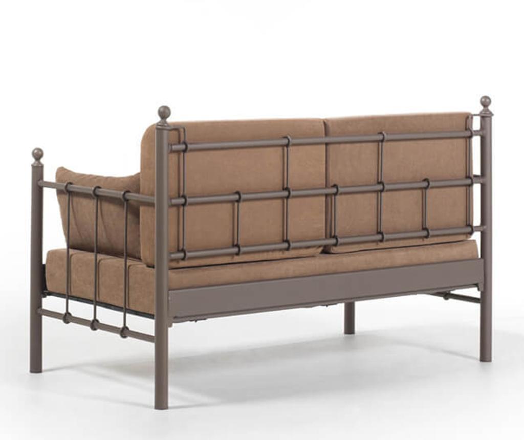 Canapea 2 locuri pentru exterior Lalas Brown