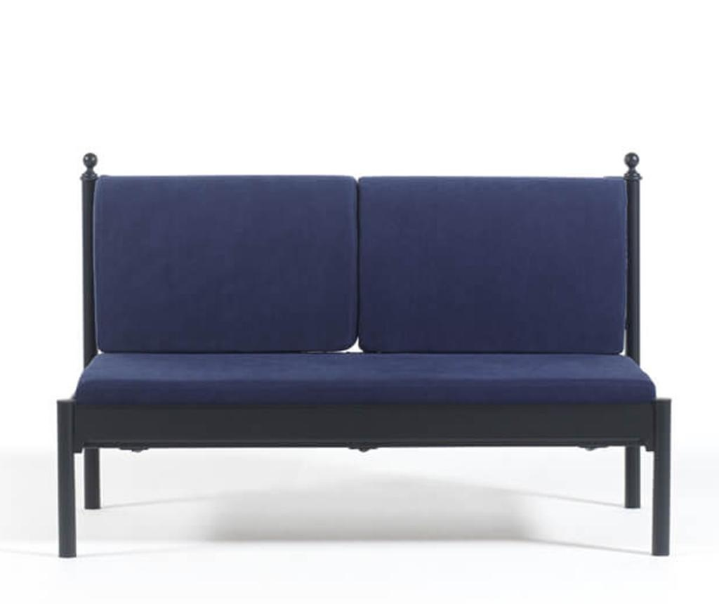 Canapea 2 locuri pentru exterior Mitas Black and Dark Blue