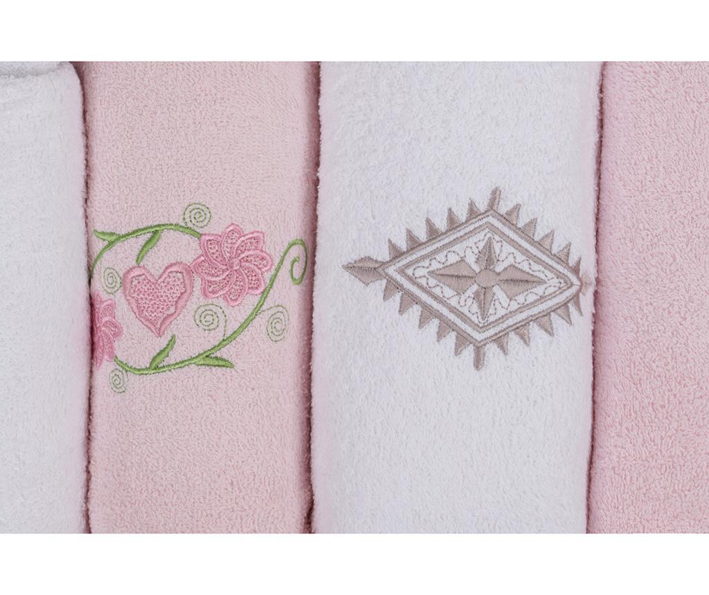6-delni set kopalniškega tekstila His and Hers White and Pink