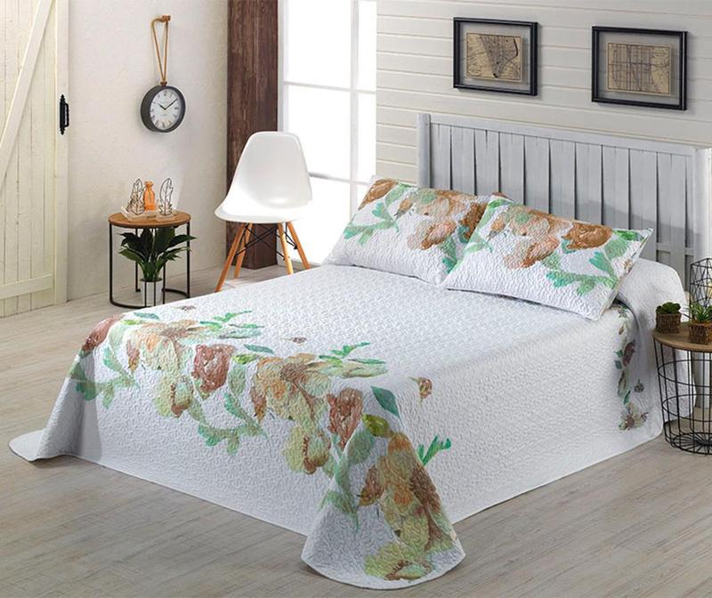 Set s posteljnim pregrinjalom Single Extra Mia Beige